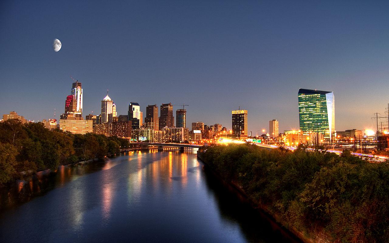 City of Philadelphia Skyline at Night